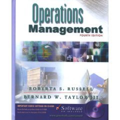 Operations Management 4th by Bernard W., III Taylor 0130348341