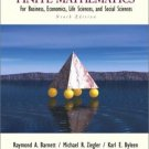 Finite Mathematics for Business, Economics, Life Sciences 9th by Karl E. Byleen 0130338400