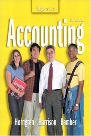 Accounting Chapters 1-13 6th by Charles T. Horngren 0131436325