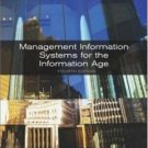 Management Information Systems for the Info Age 4th by Stephen Haag 0072838469