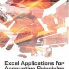 Excel Applications for Accounting Principles 2nd by Gaylord N. Smith 0324270275