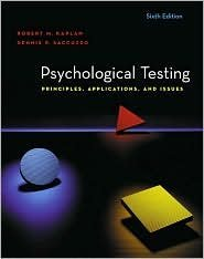 Psychological Testing 6th by Dennis P. Saccuzzo 0534633064