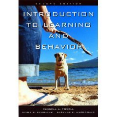 Introduction to Learning and Behavior 2nd by Russell A. Powell 0534634516