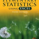 Elementary Statistics Using Excel 3rd edition by Triola 0321365135