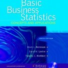 Basic Business Statistics: Concepts And Applications 10th Ed. by Mark L. Berenson 0131536869