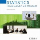 Statistics for Management and Economics 7th Ed. by Gerald Keller 0534491243