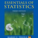 Essentials of Statistics 3rd by Mario F. Triola 0321434250