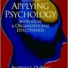 Applying Psychology 6th by Andrew Dubrin 0130971154