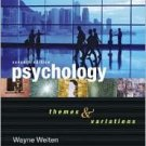 Psychology 7th by Wayne Weiten 0495093033