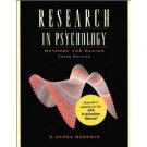 Research in Psychology 3rd by C. James Goodwin 0471454338