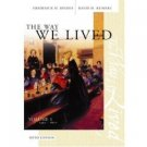 The Way We Lived: Volume 1: 1492 - 1877 5th by Frederick Binder 0618305858