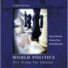World Politics: The Menu for Choice 8th by Bruce Russett 0534604129