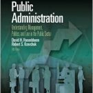Public Administration 5th by David H. Rosenbloom 0072401923