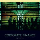 Corporate Finance 8th Ed. by Stephen A. Ross 0073337188