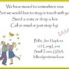Just Moved Moving Announcements Personalized Cards Dacing Couple Under Stars