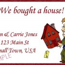 Just Moved Moving Announcements Personalized Cards Realtor Holding House