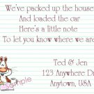 Just Moved Moving Announcements Personalized Cards Cute Squirrel Writting A Note