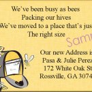 Just Moved Moving Announcements Personalized Cards With Bee's and Mailbox
