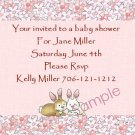 Baby Shower Invitation Cards Personalized cute bunnies