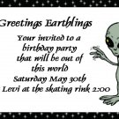 birthday invitations personalized alien