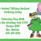 birthday invitations personlized cat kitten girl