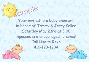 baby shower invitations personalized boy or girl alphabet back ground
