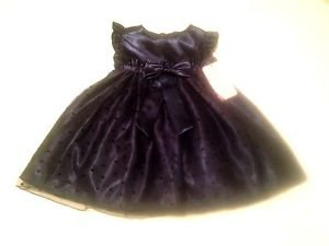 NWT Katie M , Infant Girts, Dress,, Size 2T, Blue w/ Sheer Overlay, Bow