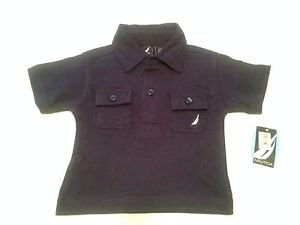 NWT,Nautica, Infant  Boys, Polo Shirt, Size 3/6 months, Navy Blue w/white emblem