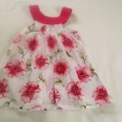 Penelope Mack, nfant Dress  Size 24 months,  White w/ Green/Pink Floral Print