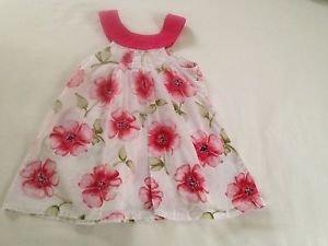 Penelope Mack, nfant Dress  Size 24 months,  White w/ Green/Pink Floral Print