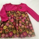 Carter's Infant Girts, Dress, Size 18 months, Pink w/ Pastel Floral Print