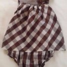 Carter's,Infant Girls, One Piece, Dress Size 18 months, Brown/White Plaid