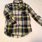 Crazy 8Toddler Boys, Shirt, Size  ,Gray/Green/White Plaid, Long Sleeve