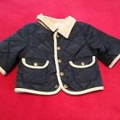 Gymboree Infant Boys, Jacket, Size 3-6 months, Blue w/ Tan Trim, Snap  Front