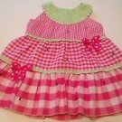 Bonnie Baby, Infant Girls, Dress Size 18 months, Pink/White Plaid, Coord Bow Acc