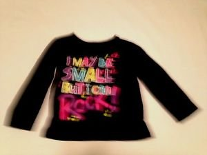 """The Children's Place, Toddler Girls, Blouse, Size 2T, Black""""Small But Can Rock"""""""