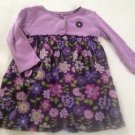 Carter's Infant Girts, Dress, Size 18 months, Lavender w/ Pastel Floral Print