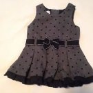 Wonder Kids, Infant Girts, Dress, Size 12 months, Gray/Black Polka Dot