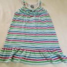 Oshkosh, Girls, Dress,Size 6, White w/ Pastel Striped, Ruffled collar