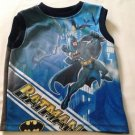 "Batman, Toddler Boys Shirt  , Size 4, "":Batman"" Print Blue, Sleeveless"