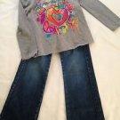 "Garanimals, 2 Piece Set, Shirt/Jeans(Faded Glory Size 4T, ""LOVE"" Grapic T"