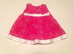 George, Infant Dress Size 0-3months,  Pink w/White Bow at Waist