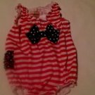 Toffee Apple,Infant Girls, One Piece,  Size 18 months, Red/White Striped