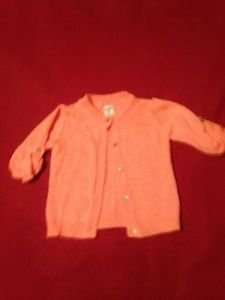 Carter's, Infant Girls, Sweater Size 12 months, Salmon, Button Down Front