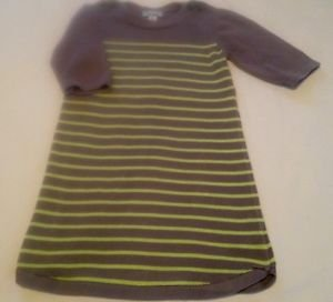 Old Navy , Toddler Girts, Dress Size 5 ((XS), Gray/Green Striped, Sweater Dress