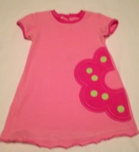 Circo  Infant Girts, Dress, Size 18 months, Pink/Yellow Bold Flora sidel design