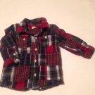 BabyGap, Infant Boys, Size 12-18 months, Red/Blue Plaid, Button Down, Corduroy