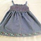 BabyGap,  Infant Girts  Dress, Size 18-24 months, Blue Denim Pastel floral Print