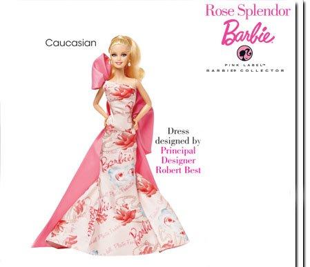 Pink Label Barbie Collector - Rose Splendor Barbie Doll