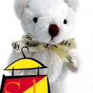 "NICE! 3.5"" Magnetic Teddy Bear with a Teddy-Bear-Imprinted-Ribbon"
